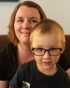 Photograph of Correne Omland and her son Ashton